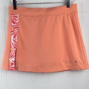 NWOT Danskin tennis skirt skort Peach Floral Sz Sm